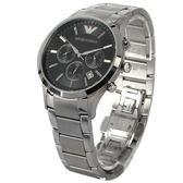 EMPORIO ARMANI簡約時尚三眼計時不鏽鋼男腕錶43mm(AR2434)270212