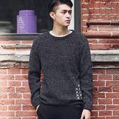 毛衣韓版潮流百搭圓領打底衫長袖針織衫