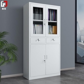 辦公室文件櫃鐵皮櫃資料小櫃子矮櫃檔案資料櫃帶鎖員工更衣櫃鋼制