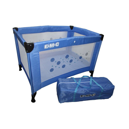 EMC 輕巧型遊戲床(藍色)