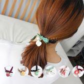 夏日水果珍珠緞帶髮圈 髮圈 造型髮飾 彈性髮圈
