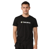 【TAKAKA】男 印花彈性T恤『黑色』M51776 吸濕快乾 露營.戶外.吸濕.排汗.透氣.快乾.輕量
