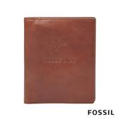 FOSSIL Travel 焦糖色真皮RFID護照夾 MLG0358222