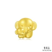 點睛品 Charme 可愛母子象 黃金串珠