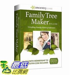 [103美國直購] Family Tree Maker Deluxe CD-ROM 家譜製作 $2918