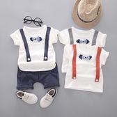 潮男童夏季套裝男孩兩件套嬰兒童裝寶寶短袖夏裝1一2-3-4-5歲衣服
