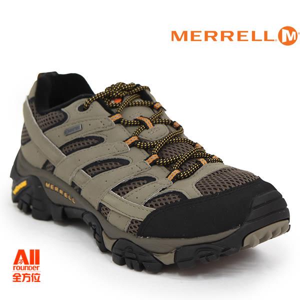 【Merrell】男款HIKING 郊山健行MOAB 2 GTX多功能系列 -卡其色(06035)【全方位運動戶外館】