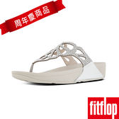 【FitFlop TM】BUMBLE TM CRYSTAL TOE-THONG SANDAL(銀色)
