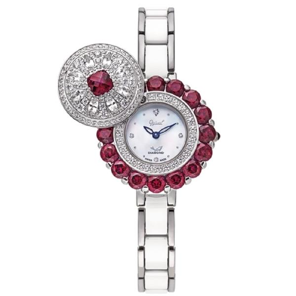 【Ogival愛其華】雪中紅天然寶石珠寶錶 380-288.1DLW