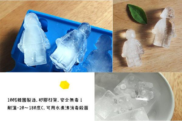 韓國OXFORD 樂高造型DIY製冰盒模具-紅(6格)