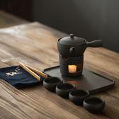 全館85折日式功夫茶具套裝4人家用小茶盤簡約現代辦公泡茶壺陶瓷溫茶爐
