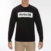 Hurley  M OAO BOXED CREW BLACK  圓領休閒衫-黑(男)