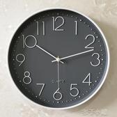靜音鐘錶掛鐘客廳家用時尚時鐘掛牆簡約大氣創意個性錶北歐石英鐘YJT扣子小鋪