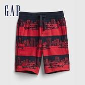 Gap男幼童 布萊納系列 口袋印花休閒短褲 542324-消防車圖案