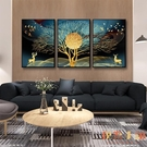 單幅 北歐輕奢裝飾畫客廳餐廳臥室壁畫背景...
