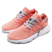 adidas 休閒鞋 POD-S3.1 W 粉橘紅 白 女鞋 透氣編織鞋面 P.O.D System 運動鞋【PUMP306】 CG6185