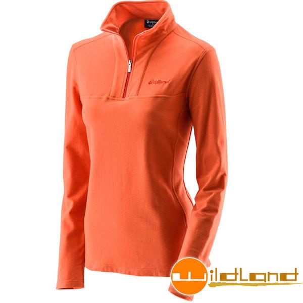 Wildland荒野 0A22601-84橘色 女彈性銀離子保暖抗菌上衣