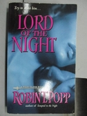 【書寶二手書T6/原文小說_NAC】Lord of The Night_Robin T. Popp