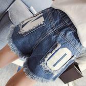 雙11狂歡女童夏裝2018新款兒童短褲4-6-10歲中大童夏季破洞毛須牛仔短褲潮   初見居家