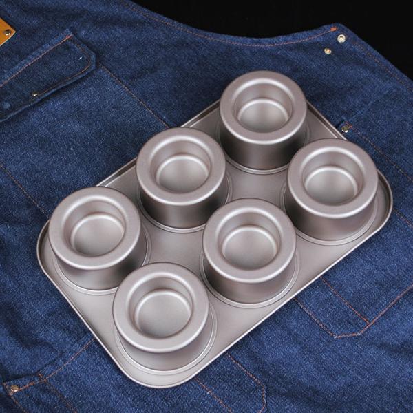 6連堡爾美克模具 凹凸杯子夾心diy蛋糕面包烘焙烤盤 蛋糕模 BE0175 【狐狸跑跑】