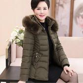 中老年棉衣女短款冬裝外套新款媽媽棉襖加絨50歲中年人羽絨棉服60