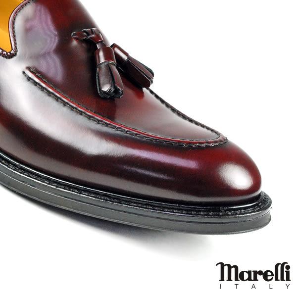 【Marelli】經典流蘇樂福鞋 酒紅色(2398-MAR)