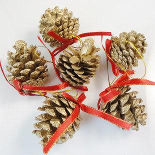 聖誕樹掛件飾品 松果四包24顆
