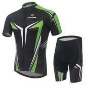 自行車衣-(短袖套裝)-帥氣舒適排汗戶外男單車服套裝73er9【時尚巴黎】