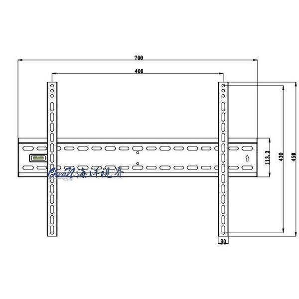 【海洋視界EVERSUN AW-03】(40-70吋) 固定型電視架/壁掛架 通用耐重 螢幕可水平微調