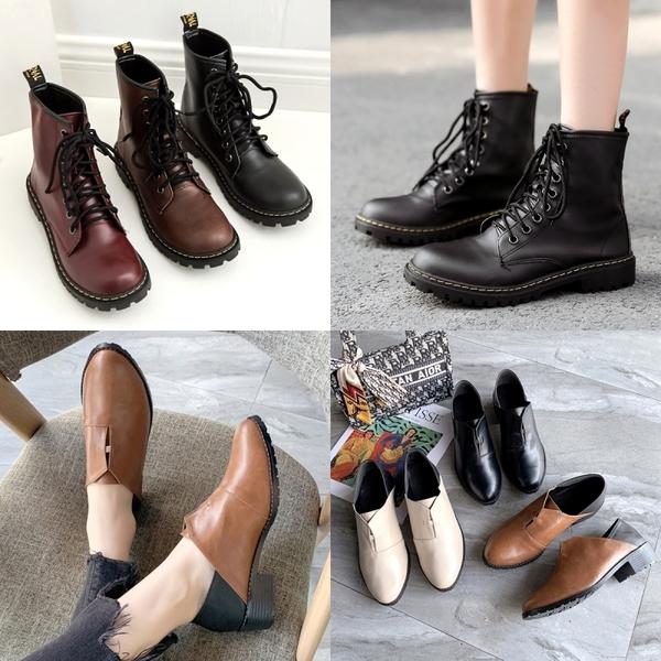 (領券再折) MIT台灣製 早秋必備兩穿踝靴 / 厚底馬丁靴 現貨(兩款任選)