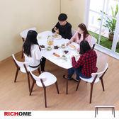 【RICHOME】哥本哈根現代5呎大餐桌胡桃木配白色