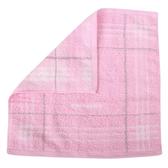 BURBERRY刺繡LOGO條紋純棉方巾(粉紅色)081009-1
