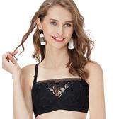 思薇爾-都繪感系列B-D罩1/2罩抹胸蕾絲刺繡包覆內衣(黑色)