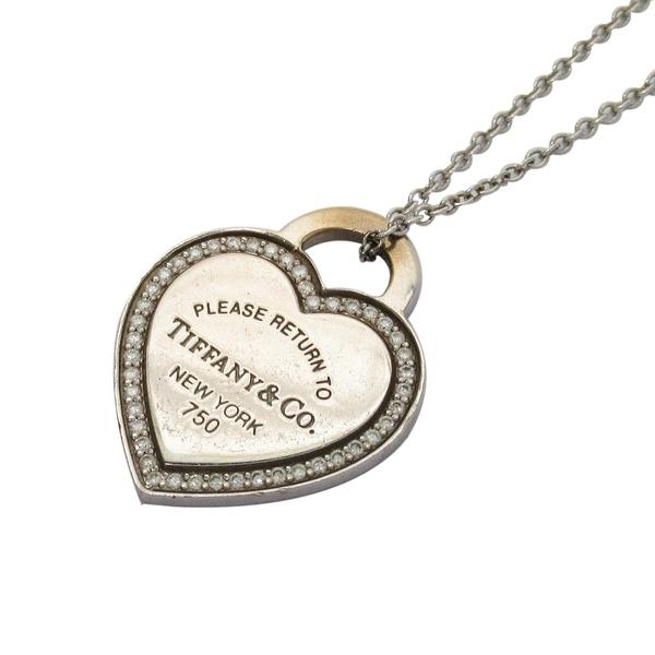 Tiffany & Co 蒂芬妮 Return to Tiffany Heart Tag Necklace 18白K金愛心造型項鍊