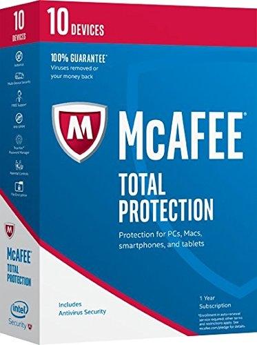 [106美國直購] 2017美國暢銷軟體 McAfee 2017 Total Protection-10 Devices [Key Code] (10-Users)