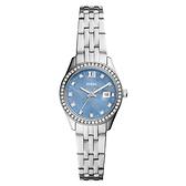 FOSSIL 珍珠貝銀色不鏽鋼女士腕錶 ES5074