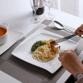 西餐盤子簡約創意純白色牛排盤陶瓷水果沙拉盤菜盤餐具點心甜品盤【叢林之家】