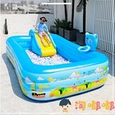 兒童充氣游泳池家用寶寶游泳桶加厚大型家庭小孩洗澡池【淘嘟嘟】