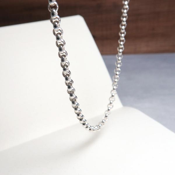 極簡寬版小圓鍊(3.7mm寬) 24吋925純銀項鍊 搭配鍊 男生項鍊