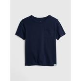 Gap男幼童 柔軟舒適圓領短袖T恤418387-藏青色
