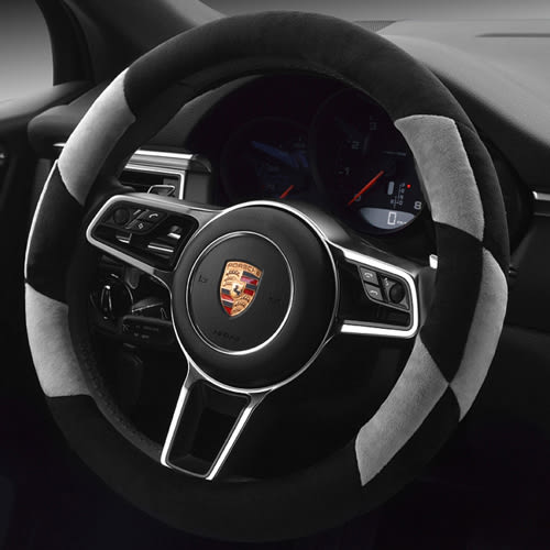 冬天毛絨幾何圖 方向盤皮套 方向盤套 AUDI BMW BENZ VW TOYOTA SUBARU PORSCHE 沂軒精品 A0171