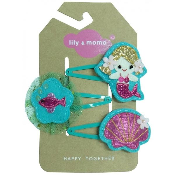 【美國 Lily & Momo】手工童趣髮飾-快樂美人魚 #HCA336