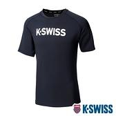 【超取】K-SWISS Mesh Back Tee涼感排汗T恤-男-黑