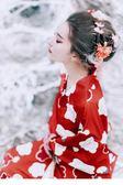 春夏日祭日本日式旅游浴衣 印花復古少女腰封連衣裙傳統和服【新品上市】