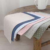 復古風加厚棉麻餐墊 文藝餐巾 餐桌隔熱墊 雙面可用 美食拍照道具