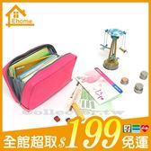 ✤宜家✤多功能帆布化妝包 存摺包/收納包/零錢包/數碼包/鑰匙包