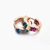耳環 925純銀鑲鑽-氣質典雅生日情人節禮物女耳針2色73gt184【時尚巴黎】