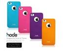 【默肯國際】hoda - iPhone 4S/4-皮革金屬感彩殼