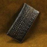 油蠟皮皮夾(長夾)-經典復古鱷魚紋大容量男錢包73qs16[時尚巴黎]