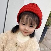 寶寶帽子秋冬季純棉嬰幼兒針織毛線帽兒童帽加絨加厚女孩可愛超萌 一米陽光